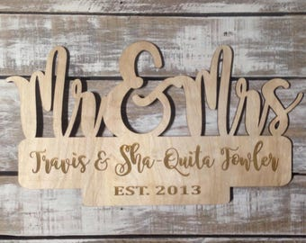 Mr. & Mrs. Established Sign
