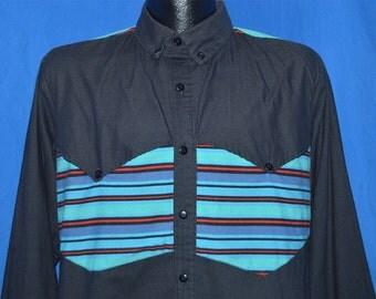 90s Western Cowboy Striped Yolk Button Down Shirt Medium