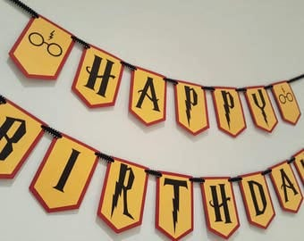 Harry potter birthday - Harry potter banner - Harry potter party - Harry potter decorations - Harry potter garland