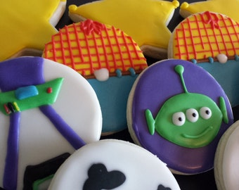 Toy story sugar cookies, birthday cookies, kids birthday cookies, toy story