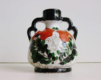 Marei ceramic double handled vase, Germany, WGP