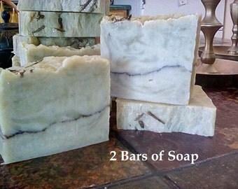 2 bars of Matcha Green Tea Soap, made with real Matcha tea, moisturizing soap, natural skin care