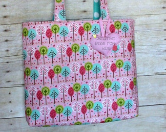 Kids Tote Bag/ Girls Book Bag/ Girls Bag/ Girls Tote Bag/ Toddler Tote Bag/ Kids Travel Bag/ Sleepover bag/ Shoulder bag/ Pink tote bag