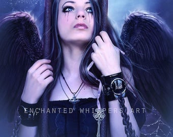 dark angel fantasy art print