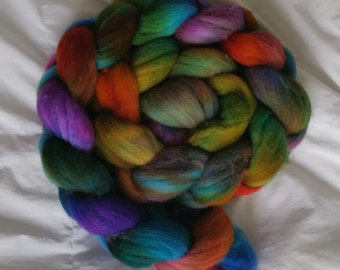 Hand Painted Merino Wool - A More Subdued Celebration