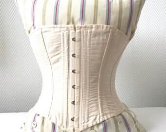 Light Pink Civil War Era Steel Boned Corset - Size 20