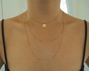 Gold STARBURST Set of 3 Dainty Minimalist Necklaces