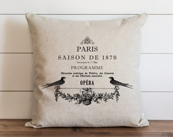 Opera 20 x 20 Pillow Cover // Everyday // Throw Pillow // Gift // Accent // Cushion Cover