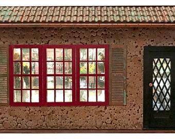English Village Shop Front - 1:12 scale miniature architectural façade