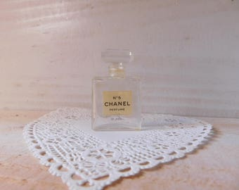 Vintage Chanel Number Five Perfume Bottle - One Third Ounces