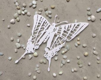 Small Dainty Butterfly Paper Cut - Kirigami Butterfly - Original Paper Art - Scherenschnitte Butterfly