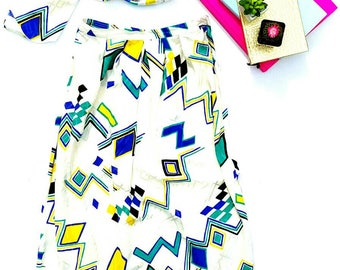80s Abstract Skirt size 10