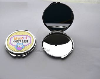 "Pocket mirror double gift ""Thank you Mistress"""