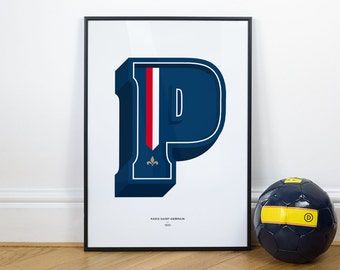 P is for Paris Saint-Germain, Football Typography Print