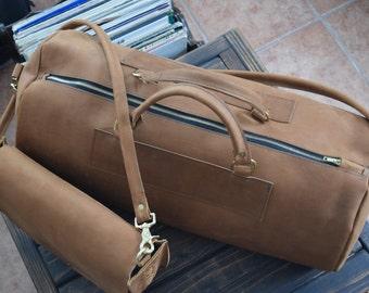 Johnny Duffel Bag/ Mens Leather Duffel Bag/ Leather Duffel/ Mens leather bag