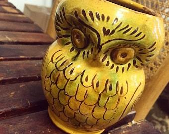 Goldenrod Owl Planter