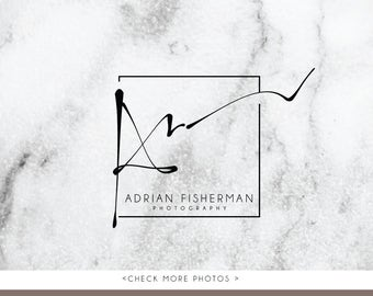 Letter A signature logo artistic branding luxury businesscards simple modern gender neutral logo Identity artist makeup wedding photographer