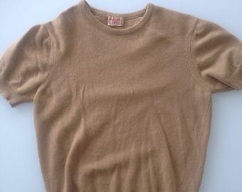 100% cashmere vintage Jaeger short sleeved blouse