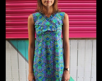 60's Mini psychedelic dress