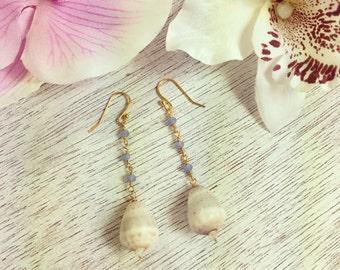 Flea Cone Earrings, Cone Shell Earrings, Hawaii Jewelry
