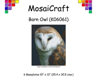 MosaiCraft Pixel Craft Mosaic Art Kit 'Barn Owl' (Like Mini Mosaic and Paint by Numbers)