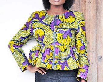 Own Top | African Prints Peblum Top/Bouse | Ankara Top | Waxi Prints Top
