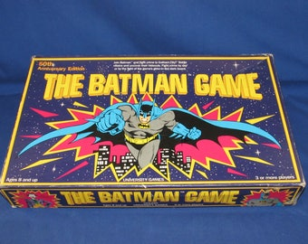 The BATMAN GAME 1989 50th Anniversary Edition University Games DC Comics