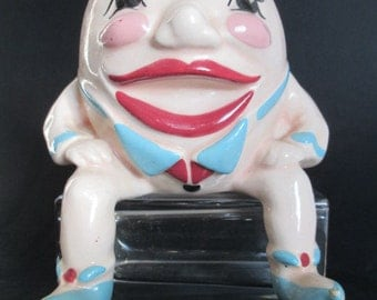 Vintage Antique Humpty Dumpty Planter
