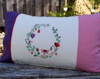 Pillow Summer Wreath Cross stitch