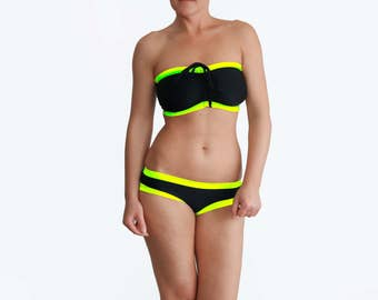 Best Black Bikini, Big Busted Swimsuit, E Cup Bathing Suit, Large Bust Swimwear, 34DDD Bathing Suit, Full Support Bikini, Bra Sized Swimsuit