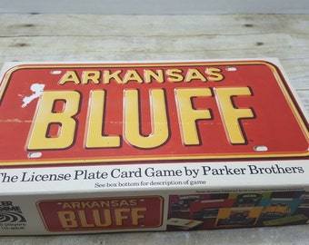 Arkansas Bluff, 1975, Parker Brothers, vintage card game