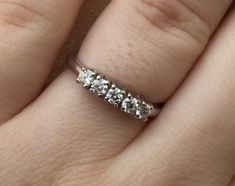 18k white gold .42 carat diamond wedding/ anniversary ring
