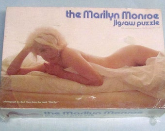 "Vintage The MARILYN MONROE Jigsaw Puzzle1973 Photo By Bert Stern-Book-""Marilyn"""
