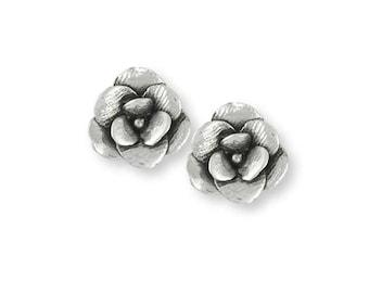 Magnolia Earrings Jewelry Sterling Silver Handmade Flower Earrings MG5-E