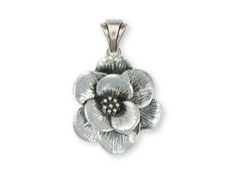 Magnolia Pendant Jewelry Sterling Silver Handmade Flower Pendant MG1-P