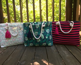 Monogram Beach Tote - Monogram Beach Bag - Beach Tote - Beach Bag - Summer Bag - Monogram Bag - Overnight bag