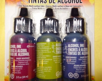 Alcohol Ink CRANBERRY/LETTUCE/EGGPLANT Tim Holtz - TIM19763 Farmers Market cc03 IN019