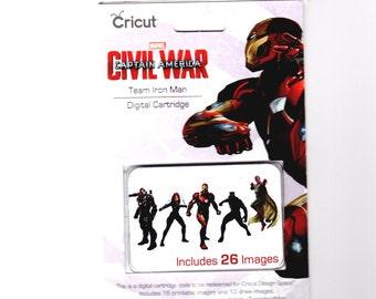 Cricut Digital Cartridge Captain America Civil War TEAM IRON MAN 26 Images  for Cricut Design Space 2003795 - cc04 DG001
