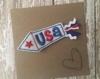 Felt USA Firework Hair Clip(s)