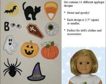 Pixie Faire Genniewren Designs Mini Applique Halloween Design Set Machine Embroidery Designs