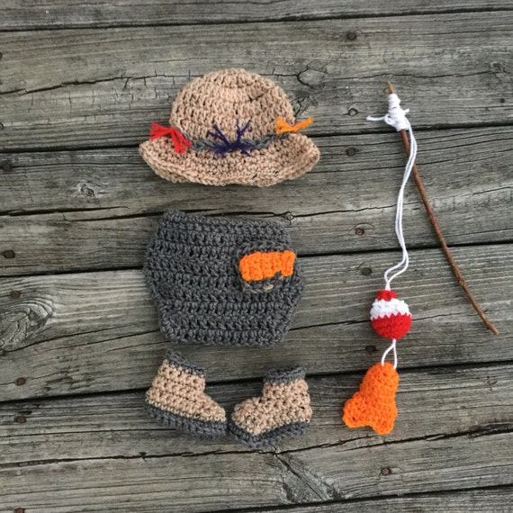 Baby Fishing Outfit Newborn Fishing Outfit Fishing Costume