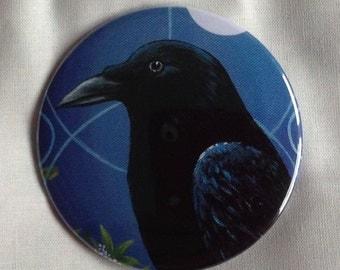 Raven. Large fridge magnet