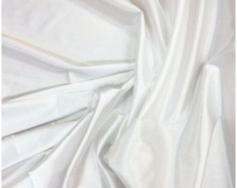 White Stretch Satin, polyester spandex satin fabric shiny stretch satin fabric dress shirt lingerie