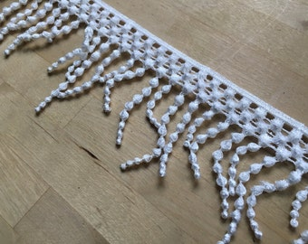 White venise fringe lace trim