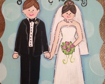 Wedding couple ornament, personalized ornament