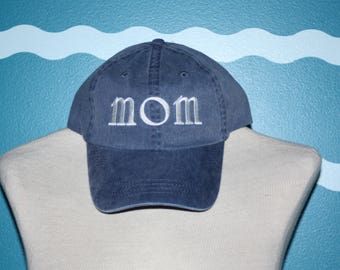 Mom Baseball Cap - Mom ball cap - new Listing - Embroidered Mom baseball cap - custom Mom hat - custom Hat - Hat for Mom - mothers day