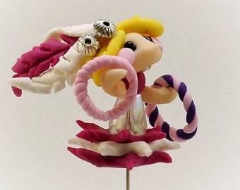 Show Girl Cake Topper, Circus Cake Topper, Cake topper, Circus theme, Mini cake topper, Circus party, Reusable cake topper, Circus doll