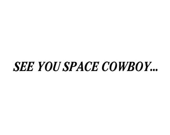 Cowboy Bebop Title Card Decal
