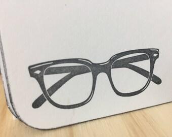 vintage eyeglasses note cards, vintage inspired stationery set, retro eyeglasses, glasses stationery, eye glasses stationery