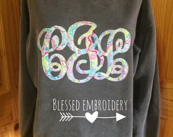 Monogrammed comfort color sweatshirt